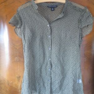 Banana Republic Mini Dot Sheer Blouse
